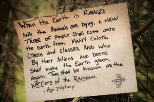 Thank you to Esther-Maria Lindner for this representation of the Hopi prophecy.